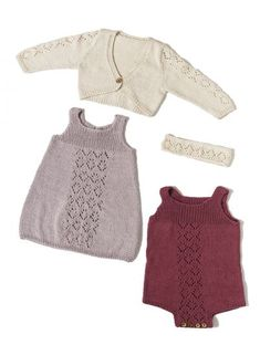92172. BABYSET: KOFTA/BOLERO, KLÄNNING, BODY, PANNBAND & KRONA Baby Set, Knitting For Kids, Baby Knitting, Ravelry, Inspiration For Kids, Baby Dress, Designer Baby, Knitting Patterns, Rompers