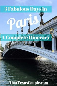 3 days in Paris a Complete Itinerary Travel Europe Cheap, European Travel Tips, Europe Travel Guide, European Destination, Travel Guides, Cool Places To Visit, Places To Travel, Travel Destinations, Three Days In Paris