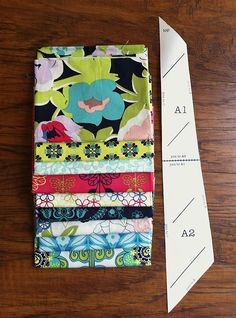 How to cut Anna Maria Horner's Feather Quilt using Fat Quarters