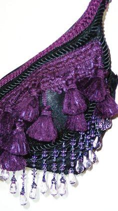Purple and Black Tribal Bra