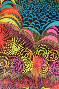 """close do painel """"Fagulhas pontas e agulhas"""", 2013 recorte colagem art Color art of paper"""