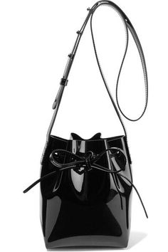 56e67f4cfe39 Mansur Gavriel - Mini Mini patent-leather bucket bag