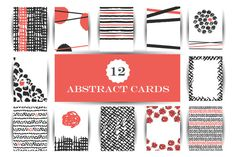 Hand drawn abstract cards by JuliaBadeeva on @creativemarket