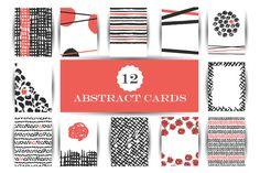 Hand drawn abstract cards by JuliaBadeeva on @creativemarket