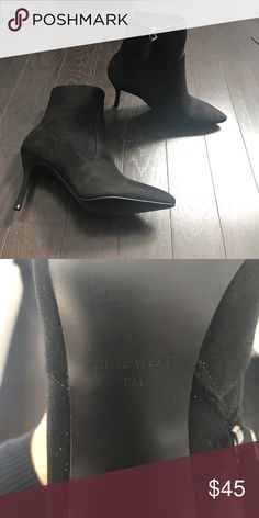 Suede shoes Nine West shoes size 9m 3 inch heels Never worn! Nine West Other