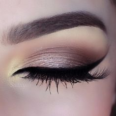 Brown smokey and perfect liner ! Pinterest: @tugbabulut98