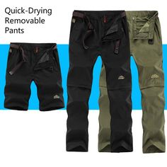 Summer Outdoor Sports Quick Dry Pants Men Camping Fishing Trekking Hiking Pants For Male Removable Thin Breathable Trousers