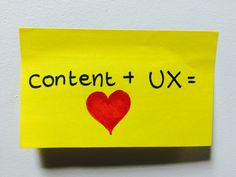 Content and the user experience