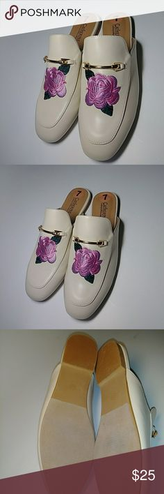 Catherine malandrino slip-on loafers New Catherine malandrino slip-on Rose embroidered loafers. Make me an offer. I sell good products at good prices equals good karma. Catherine Malandrino Shoes Flats & Loafers