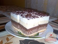 Habos csokis-vaníliakrémes kocka Hungarian Cake, Hungarian Recipes, Hungarian Food, Vanilla Cake, Chocolate Cake, Baked Goods, Breakfast Recipes, Cooking Recipes, Sweets
