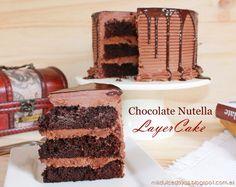 Chocolate Nutella Layer Cake