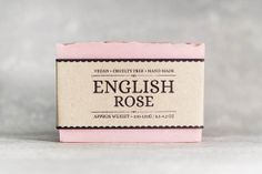 English Rose Soap, smelling gooooood for your date.