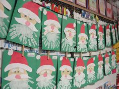Step into Grade with Mrs. Lemons: Last minute Christmas activities. These are so cute for the littles to make Preschool Christmas, Toddler Christmas, Christmas Crafts For Kids, Christmas Projects, Christmas Themes, Winter Christmas, Holiday Crafts, Santa Crafts, School Art Projects