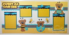 BLJ Graves Studio: Sweet As Can Bee Scrapbook Page