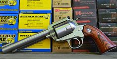 Lipsey's exclusive Ruger Super Blackhawk Bisley 5 shot, in Ruger or Ruger Revolver, Handgun, Firearms, Awesome Guns, Cool Guns, 454 Casull, Zombie Gear, Single Action Revolvers, Colt 45