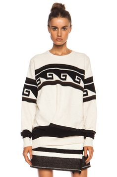 Isabel Marant Samuel Surround Knit Polyamide-Blend Pullover in Ecru Sweater  Shop, Isabel Marant 965338013ed