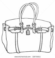 Simple fashion handbag for shopping and glamour lifestyle - stock vector