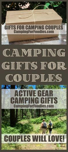 Active Gear Camping Gifts Couples Will Love! Looking for unique gifts for couples who camp? We found tons of them! From amazing active gear and cool electronic devices to hip bar accessories, cute home decor, fun vehicle gadgets, sassy clothing and more! We've got a great list of camping gifts couples will love!