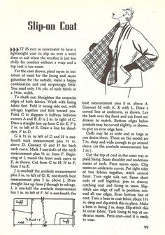 1950's Wardrobe-A Slip-on Coat | Car-coat or topper from Sew… | Flickr