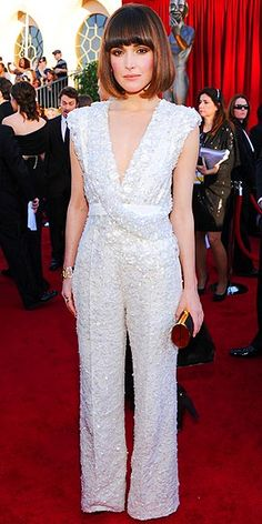 Rose Byrne - LOVE the top, wished the pants became a gown. It would have been perfection. Not a fan of the jumpsuit.