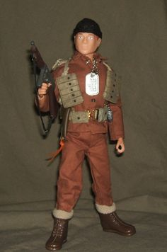 Vintage Action Man 40th loose action soldat long brown boots 1//6 Scale