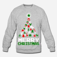 Ornament Merry Christmas Tree Sweatshirts and T-shirts. #gift #uglysweater