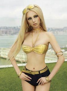 """Human Barbie"" Valeria Lukyanova (Photo courtesy of V Magazine)"