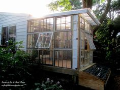 Building a Repurposed Windows Greenhouse – Our Fairfield Home & Garden Greenhouse Kitchen, Diy Greenhouse Plans, Window Greenhouse, Homemade Greenhouse, Outdoor Greenhouse, Cheap Greenhouse, Portable Greenhouse, Greenhouse Interiors, Backyard Greenhouse