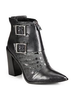 Tibi - Piper Leather Ankle Boots