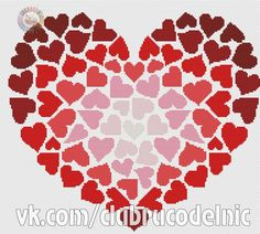 VK is the largest European social network with more than 100 million active users. Knit Crochet, Throw Pillows, Abstract, Knitting, Artwork, Punto De Cruz, Hearts, Pictures, Cash Gifts