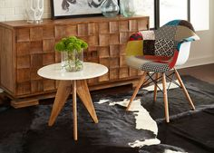 Modern Marble Top Side Table A classic round marble top is paired with wooden legs to create an updated modern look. Modern Marble Top Side Table A classic round marble top is paired with wooden legs to create an updated modern look. Wood End Tables, Small Tables, Wood Table, Dining Table, Side Tables, Dining Rooms, Coffee Tables, Table Furniture, Outdoor Furniture Sets