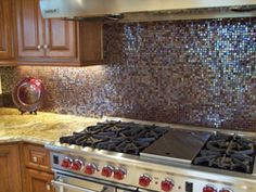 Glass Mosaic Tile in Kitchens