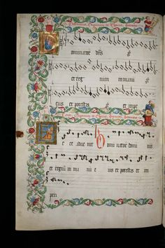 362 – Manfred Barbarini Lupus, Four-part vocal pieces for holy days of the church year: Music Manuscript, Medieval Manuscript, Medieval Music, Medieval Art, Illuminated Letters, Illuminated Manuscript, Graphic Score, Early Music, Bible Study Journal