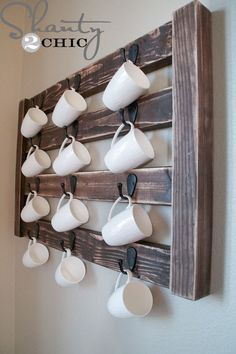 DIY Wall Mount Coffee Mug Hanger | Free Plan | rogueengineer.com #DIYwalldecor #decorDIYplans