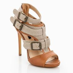 Buckle Peep Toe Heels.
