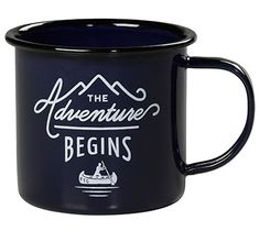 WW AGN 082/$15.50: Dark blue enamel mug is ideal for camping, festivals or adventures closer to home where you don't want to have worry about broken glass.   Hand wash only; not for microwave use. Capacity: 12 oz.  Size: 3.1 x 3.5 x 3.5.  Gift boxed.   SPECIAL BONUS: buy 5, get one free.
