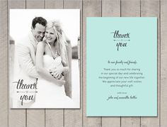 14 Best Wedding Pics Thank You Cards Images