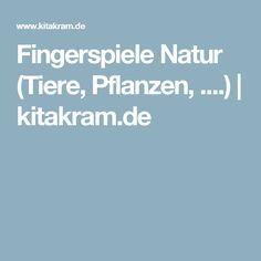 Fingerspiele Natur (Tiere, Pflanzen, ....) | kitakram.de
