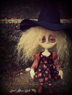 Gothic Art Doll by Dark Manor Dolls: Celia
