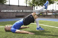 Kehonpainoharjoittelun treeniohjelma aloittelijalle | Tikis-Jope
