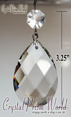 Huge long icicle 100mm drop crystal chandelier prism suncatcher 4 choose from our large selection of premium precision crafted replacement crystal prisms for chandeliers lamps more all at discounted prices mozeypictures Gallery