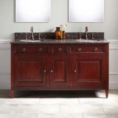 "60"" Hawkins Mahogany Double Vanity for Undermount Sink - Light Walnut"
