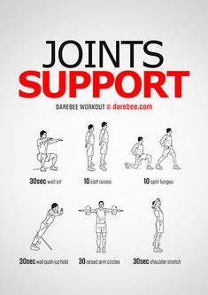 Joints Support is a Darebee Home Workout designed to help you develop stronger joints. Darbee Workout, Basic Workout, Hiit Workout At Home, Fitness Workout For Women, At Home Workouts, Workout Motivation, Weight Training Workouts, Easy Workouts, Strength And Conditioning Workouts