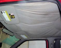 Redoing Your Car Headliner ... it's pretty easy ... do it all yourself. Removing the old headliner is pretty straightforward. Just remove everything (yes, even the interior side plastic panels ............. #DIY #car #auto #repairs #maintenance #headliner #fabric #sprayadhesive #howto #tips #decor #crafts