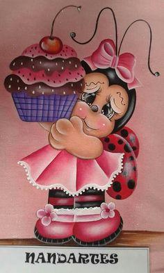 Joaninha com cup cake