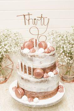 Black Gold And White 30th Birthday Cake Happy Birthday Sabreen
