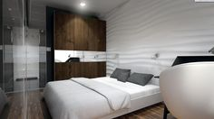 Nowoczesny, minimalistyczny salon z aneksem