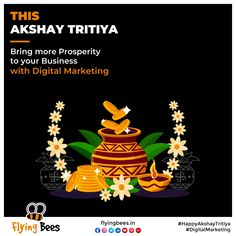 Flyinbees wishes you all, a happy and prosperous Akshay Tritya. Open the doors of success & growth with our customized Digital Marketing campaigns. #akshyatritiya #topical #business #businesssolution #socialmediamarketing #digitalmarketing #socialmedia #marketing #memesmarketing #flyingbeessurat #flyingbeesuk #Flyingbeesvadodara Social Media Marketing, Digital Marketing, Bee, Success, Doors, Business, Happy, Honey Bees, Bees