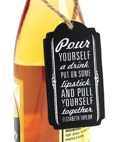 This 'Pull Yourself Together' Chalkboard Wine Tag by Jozie B is perfect! #zulilyfinds