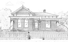 Edwardian 1901 period is also known as Federation. Houses built at this time drew on both V… Victorian House Plans, Edwardian House, Victorian Homes, Victorian Terrace, Edwardian Era, Building Facade, Building A House, What House, Simple Artwork